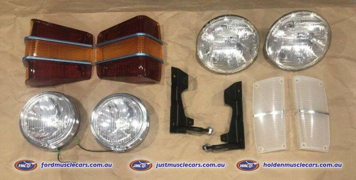 Ford xw gt gs gtho falcon & fairmont lights & lense package new kit